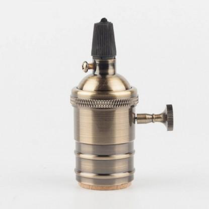 Латунный патрон с выключателем бронзовый