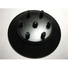Потолочный крепеж на 6 отверстий черный